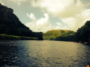 Heading up the Wailua River