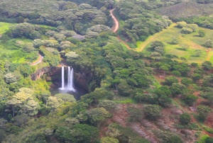 Wailua Falls from the air