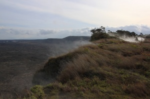 Steaming bluff