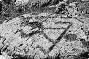 Male figure petroglyph