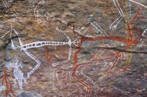Dancing figures, Nourlangie Rock