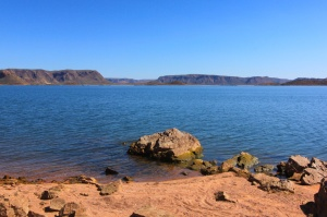 View of Lake Argyle from Lagoon Island
