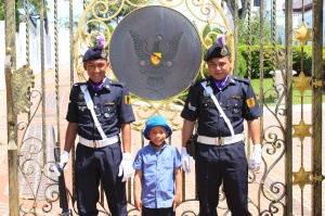 Guards at the Astana with Matthew