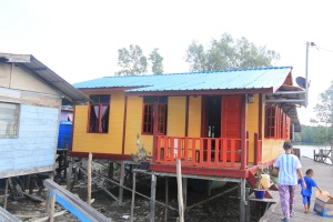 Home in fishing village, Santubong River