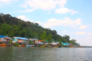 Santubong River village